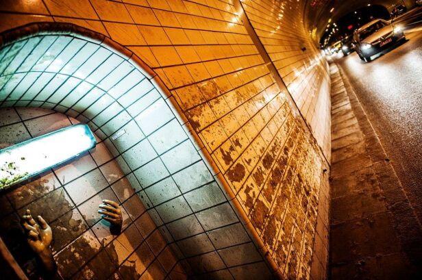 Instalacja przetrwała w tunelu prawie miesiąc Norbert Piwowarczyk