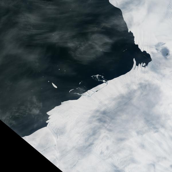 Odrywający się fragment lodowca Pine Island