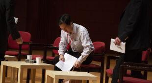 Konferencja He Jiankui (PAP/EPA/ALEX HOFFORD)