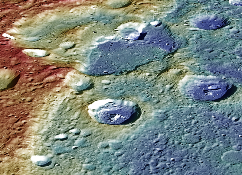 Powierzchnia Merkurego (NASA/Johns Hopkins University Applied Physics Laboratory/Carnegie Institution of Washington)