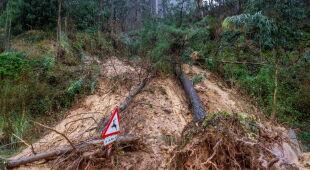 Powodzie na północy Hiszpanii (PAP/EPA)