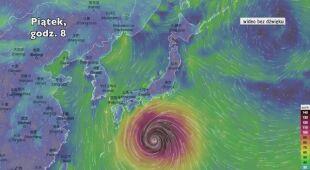 Prognozowana trasa tajfunu Hagibis