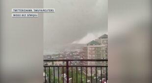 Tajfunowi towarzyszyła trąba powietrzna